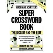 Simon and Schuster's Super Crossword Book, Paperback (9780671792329)