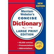 Merriam-Webster Concise Dictionary, Paperback (9780877796442)