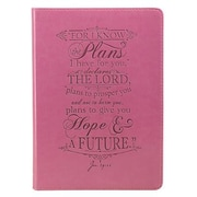 Pink Lux-Leather Journal I Know the Plans, Hardcover (9781432109493)