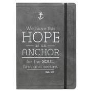 Journal - Lux-Leather - Black Hope/Anchor, Hardcover (9781432120436)