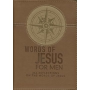 Lux-Leather Brown - Words of Jesus for Men, Hardcover (9781432121747)