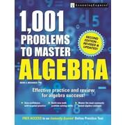 1,001 Problems to Master Algebra, 0002, Paperback (9781611030273)