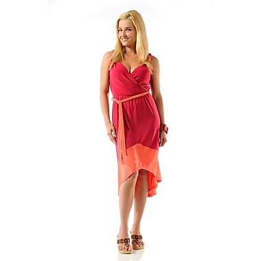Toujours Elegant 2 Tone Dress, Pink/Orange, X-Large, (4340)