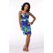 Toujours Elegant Bra Cup Dress, Blue Floral