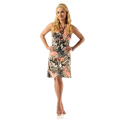 Toujours Elegant Bra Cup Dress, Coralprint, Large, (4358)