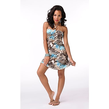 Toujours Elegant Bra Cup Dress, Turqprint, X-Large, (4358)