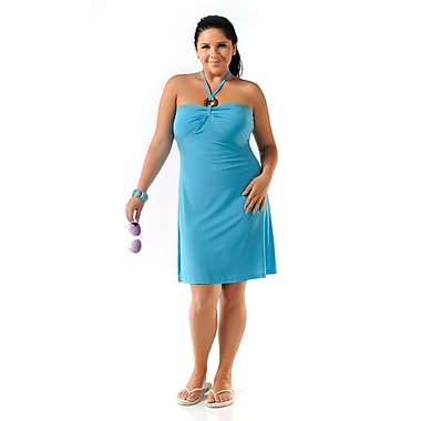 Toujours Elegant Bra Cup Dress, Turquoise, X-Large, (4358)