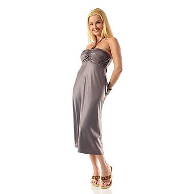 Toujours Elegant Halter Dress, Copper, Large, (4360)