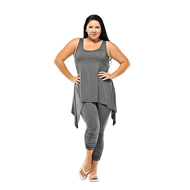 Toujours Elegant Leggings, Pewter, X-Large, (4613)