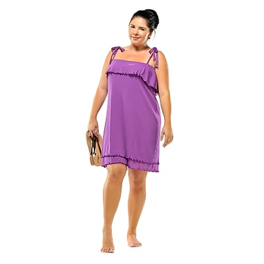 Toujours Elegant Flounce Dress, Purple, Medium, (4382)