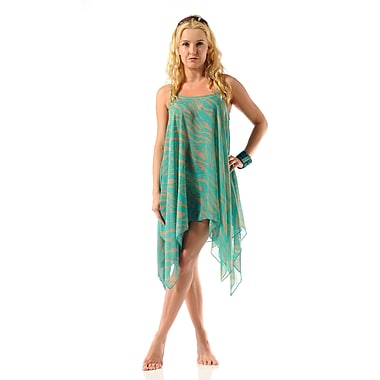 Toujours Elegant Asymmetrical Top/Cover Up, Green, Small/Medium, (4401)
