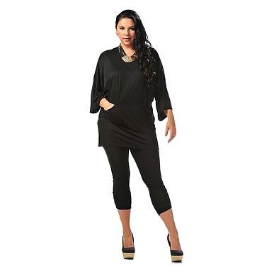Toujours Elegant Leggings, Black, Medium, (4613)