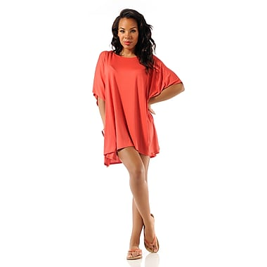 Toujours Elegant Key Hole Top, Orange, Large/X-Large, (4721)