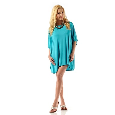 Toujours Elegant Key Hole Top, Turquoise, Small/Medium, (4721)