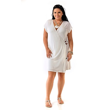 Toujours Elegant Jersey Knit Cover Up, White, Large, (4726)