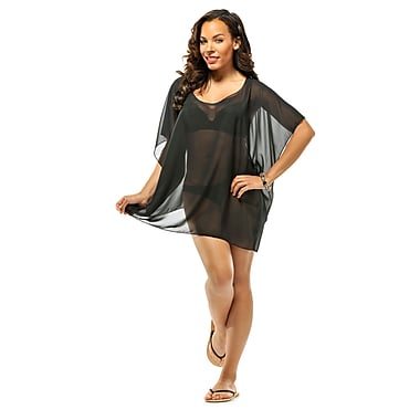 Toujours Elegant Sheer Cover Up, Black, OS, (4731)