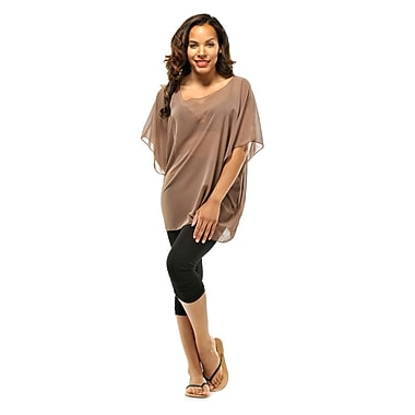 Toujours Elegant Sheer Cover Up, Taupe, OS, (4731)