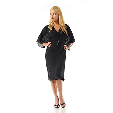 Toujours Elegant Kaftan, Black, Small/Medium, (4739)