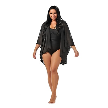 Toujours Elegant Shrug Cover Up, Black, OS, (4745)