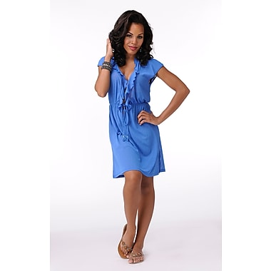 Toujours Elegant Sleeveless Tunic, Royal, Large, (4760)