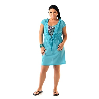 Toujours Elegant Sleeveless Tunic, Turquoise, Medium, (4760)