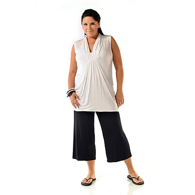 Toujours Elegant Pocketed Top, White, X-Large, (4764)