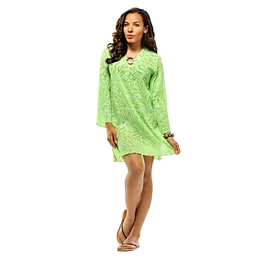 Toujours Elegant Cotton Tunic, Lime, Small, (4767)