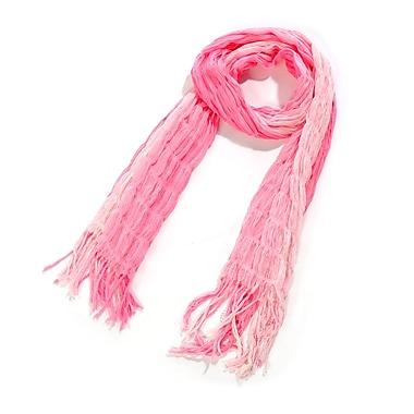 Toujours Elegant Shirred Scarf, Pink, OS, (7012)