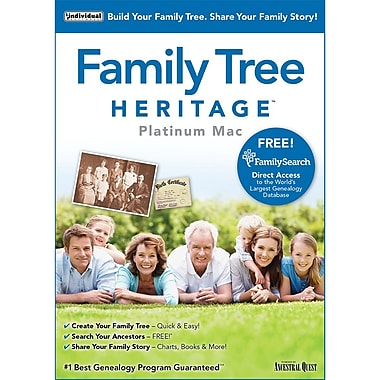Individual Software Family Tree Heritage Platinum 9 for Mac, 2016 (1 User) [Download]