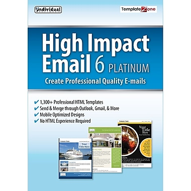 Individual Software High Impact Email Platinum 6 for Windows, 2016 (1 User) [Download]