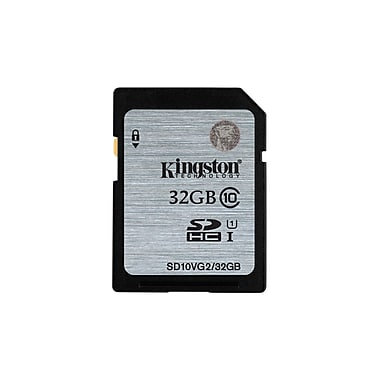 Kingston – Carte mémoire Flash SDHC 32 Go classe 10 UHS-I de 45R, (SD10VG2/32GBCR)