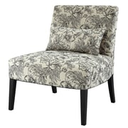 Powell Lila Floral Fabric Slipper Chair