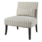 Powell Lila Striped Fabric Slipper Chair
