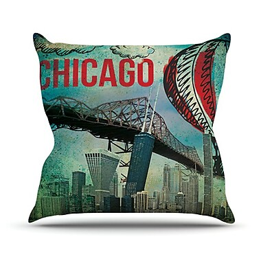 KESS InHouse Chicago Throw Pillow; 18'' H x 18'' W