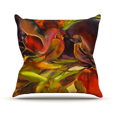 KESS InHouse Mirrored in Nature Throw Pillow; 26'' H x 26'' W