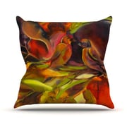 KESS InHouse Mirrored in Nature Throw Pillow; 18'' H x 18'' W