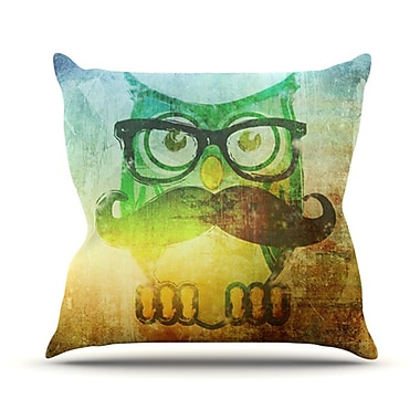 KESS InHouse Howly Throw Pillow; 26'' H x 26'' W