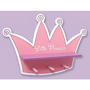 Trend Lab Storybook Princess Tiara Shelf w/ 3 Peg Hooks