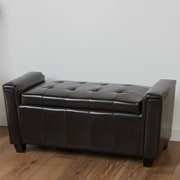 Home Loft Concepts Kate Tufted Leather Storage Ottoman