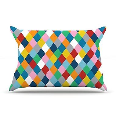 KESS InHouse Harlequin Zoom Pillow Case; King