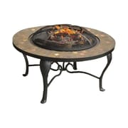 Sunjoy Sumpter Steel Wood Burning Fire pit table