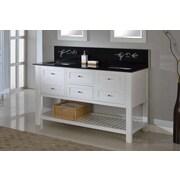 Direct Vanity Sink Mission Spa Premium 60'' Double Bathroom Vanity Set; Black Granite