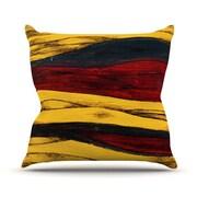 KESS InHouse Sheets Throw Pillow; 18'' H x 18'' W