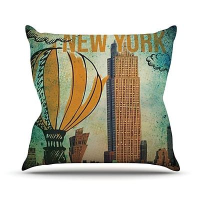 KESS InHouse New York Throw Pillow; 18'' H x 18'' W