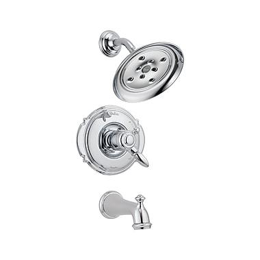 Delta Victorian Volume Control Tub and Shower Faucet Trim w/ Lever Handles; Chrome
