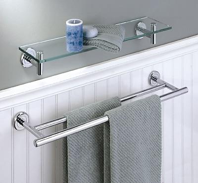 Gatco Latitude II Double 24'' Wall Mounted Towel Bar; Satin Nickel