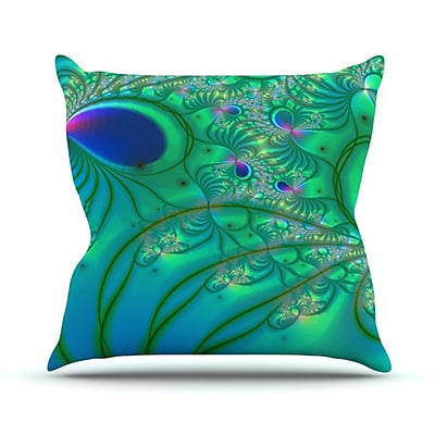 KESS InHouse Fractal Throw Pillow; 18'' H x 18'' W