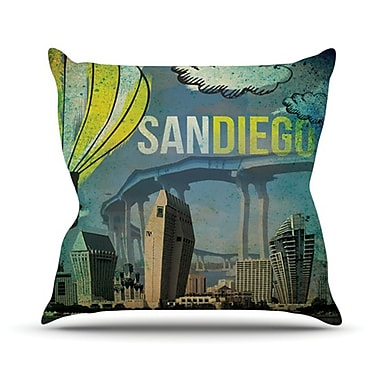 KESS InHouse San Diego Throw Pillow; 26'' H x 26'' W
