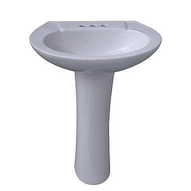 Barclay Chelsea 450 Vitreous China Oval Pedestal Bathroom Sink w/ Overflow