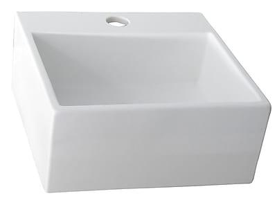 Barclay Ceramic Rectangular Vessel Bathroom Sink